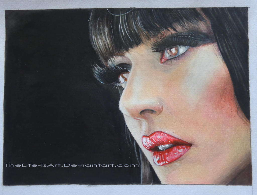 Colouredpencils -Portrait by TheLife-IsArt