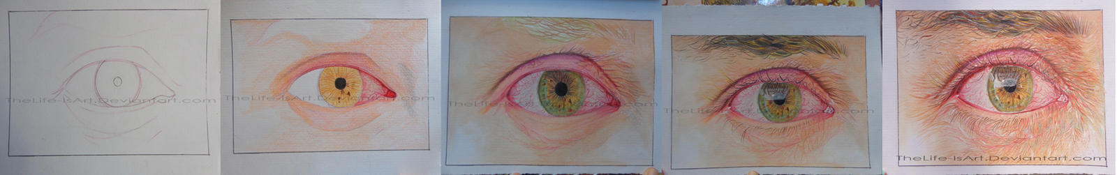 steps of the eye drawing by TheLife-IsArt