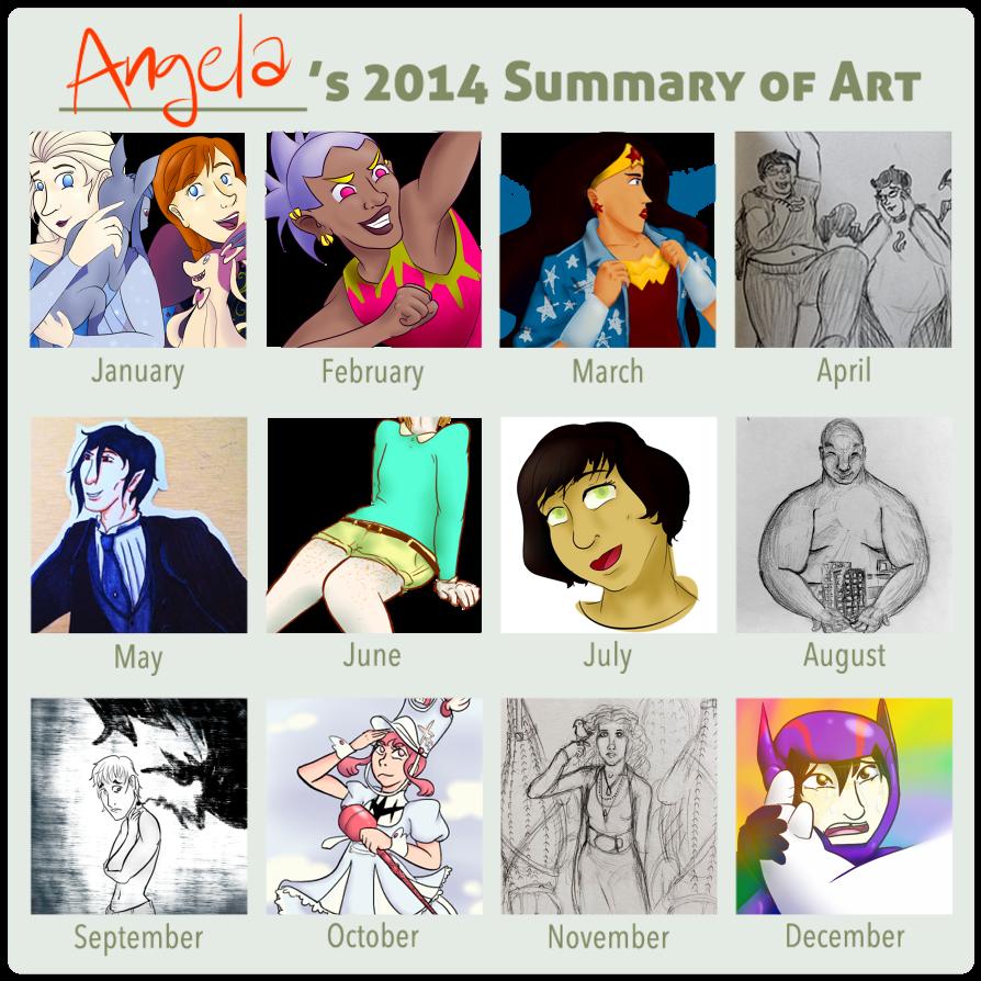 2014 Art Summary by Orangelargh