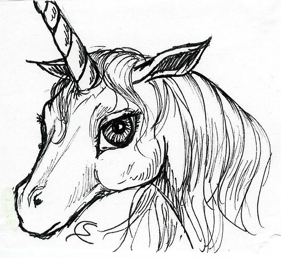 Unicorn head by soniacarreras