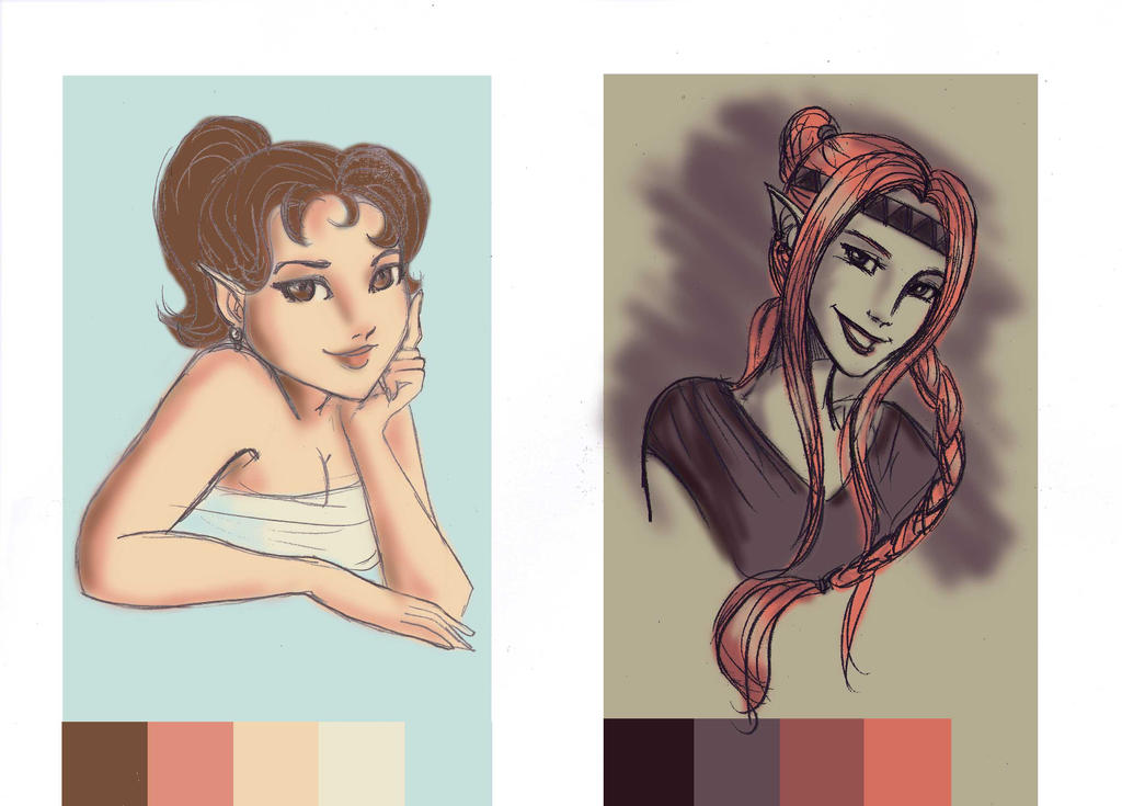 Yllwenn and Mari Palette Challenge by SoniaCarreras
