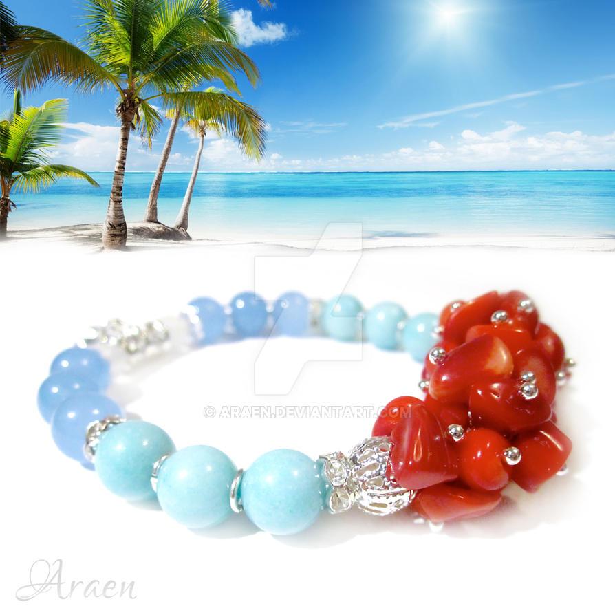 Moorea - Tropical Breeze Gemstone Bracelet by Araen