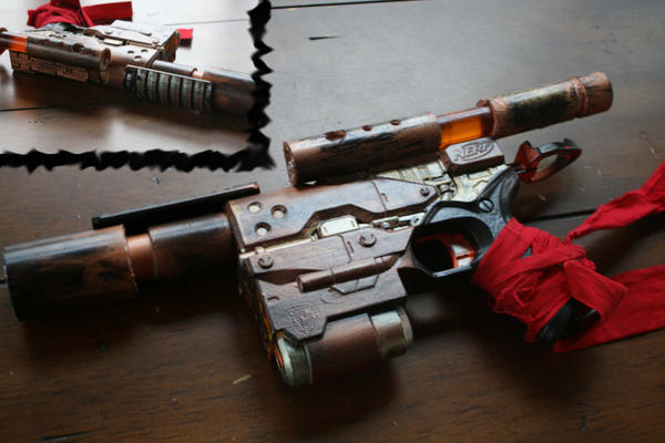 Steampunk Nerf Blaster by Leiph