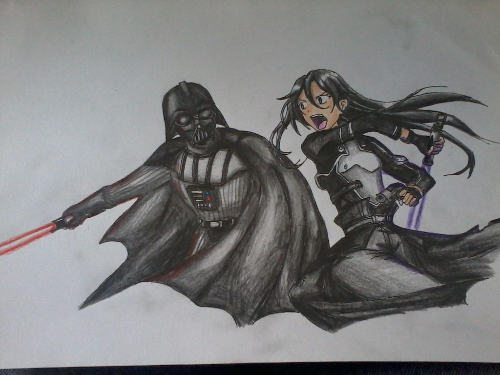 Sword art online GGO: Kirito vs Darth Vader by udiszabi