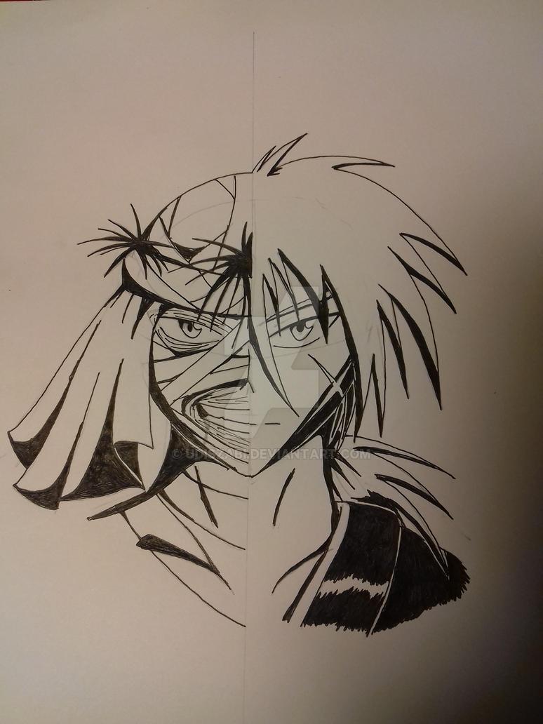 Rurouni Kenshin Kenshin/Sishio by udiszabi