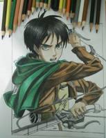 drawing Eren yeager (attack on titan) by maldiakbar1