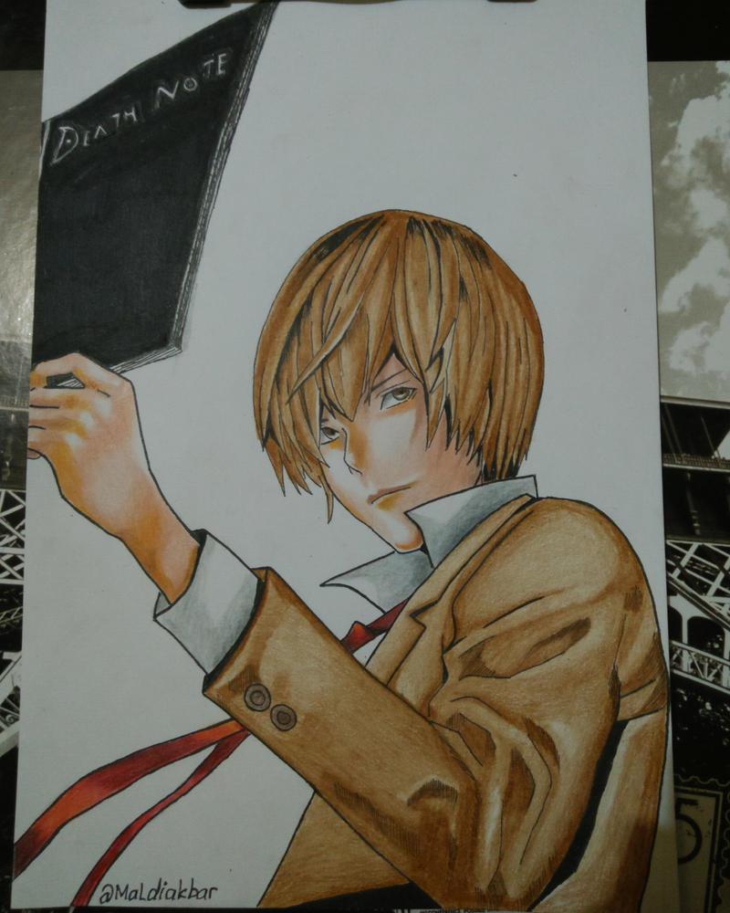Drawing Light Yagami by maldiakbar1