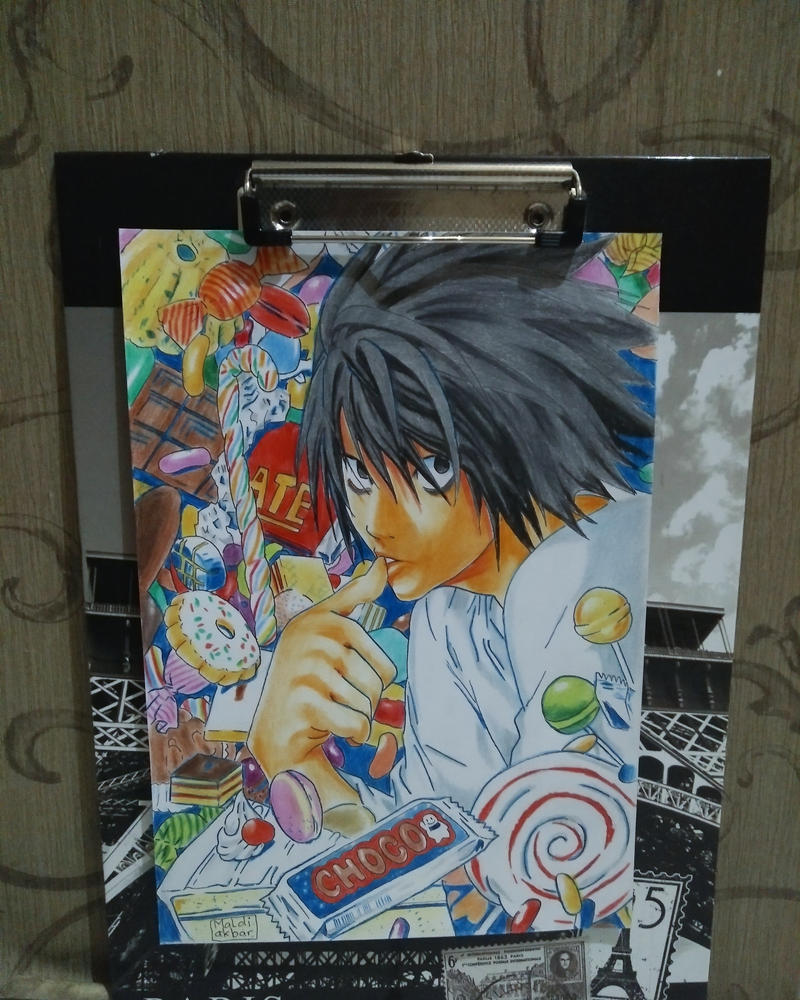drawing lawliet from death note by maldiakbar1