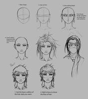 Female face and hair by Superkenomatic