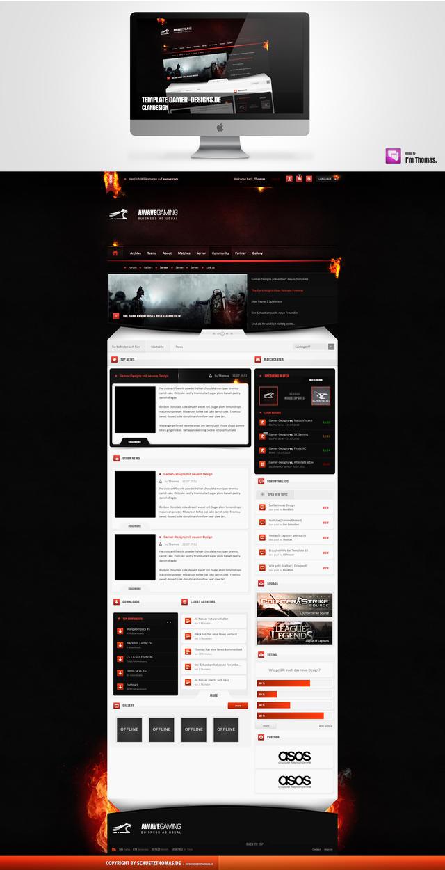 Upcoming Template 4 Gamer-Designs.de by schuetzthomas