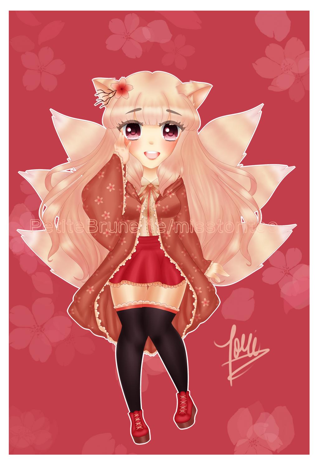 :GACHA: Sakura Kitsune~ by PetiteBrunette