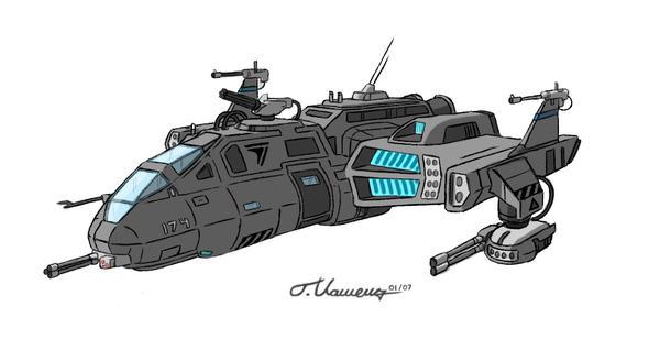 Gunship by KuroiKitsune88