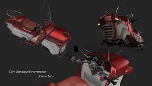 Kiev dieselpunk hovercraft