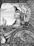Aztec Warrior - Original