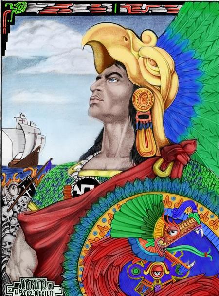 Famous Aztec Warrior Painting | www.pixshark.com - Images ...