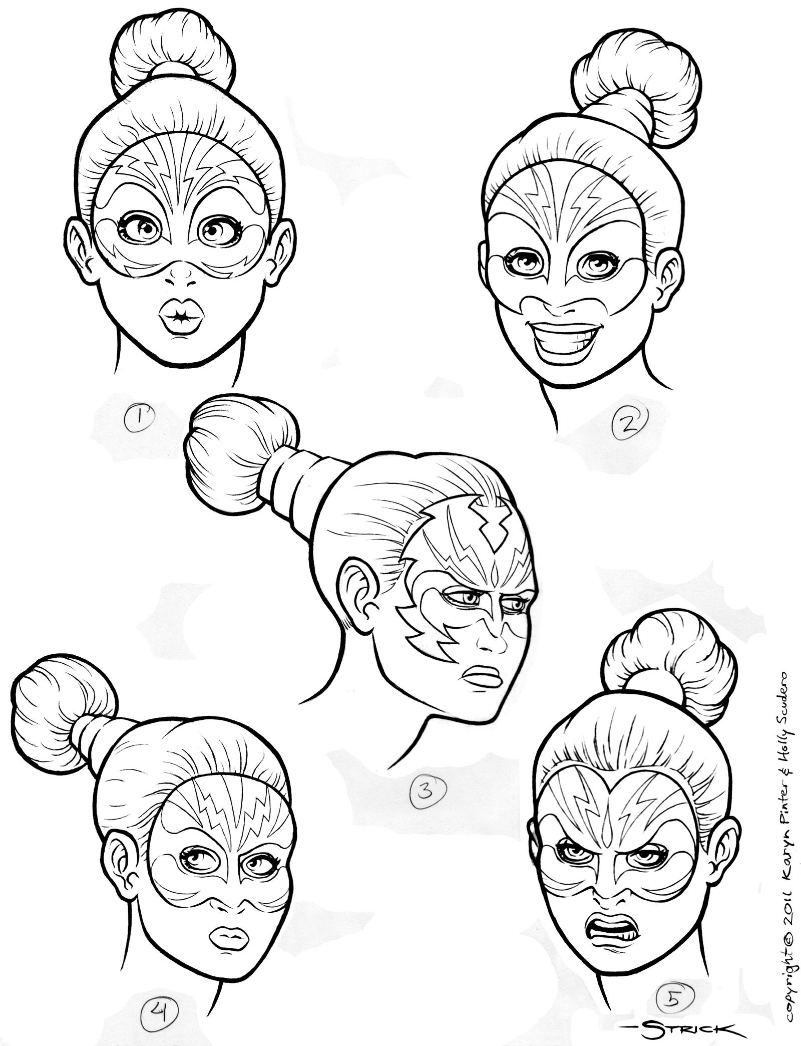CHARGE Headshots ink by strickart
