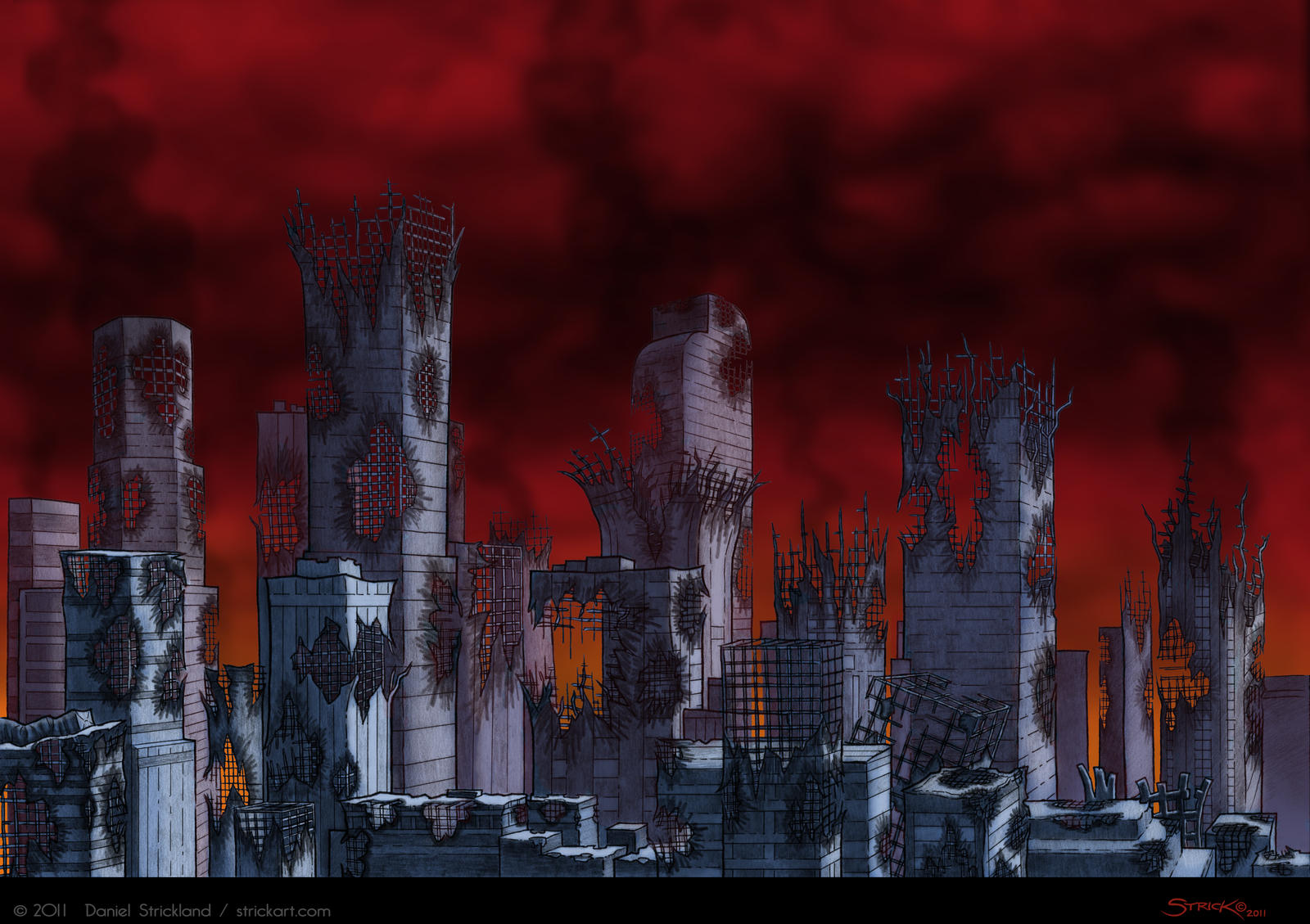 City Ruins color by strickart