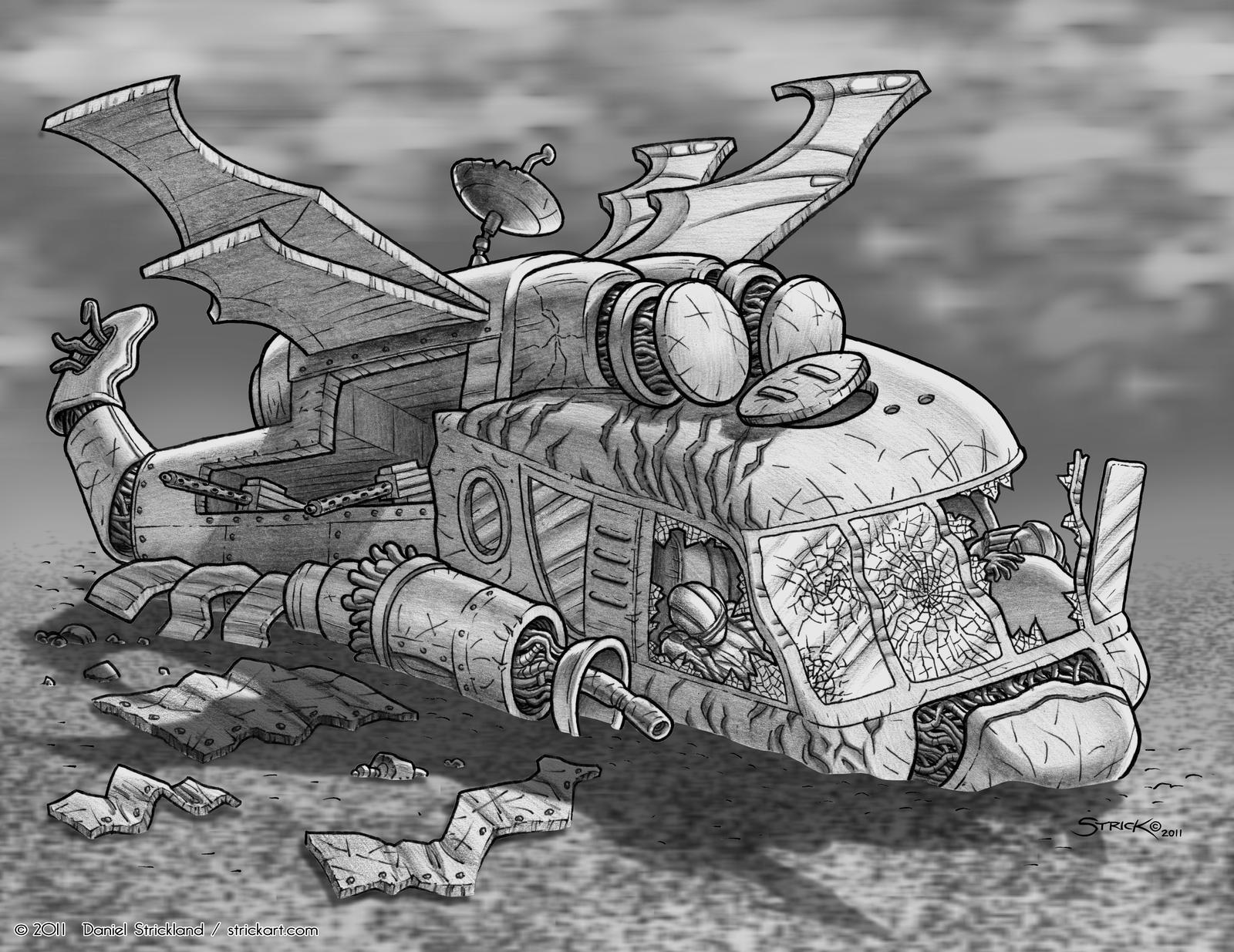 Wreckage I by strickart