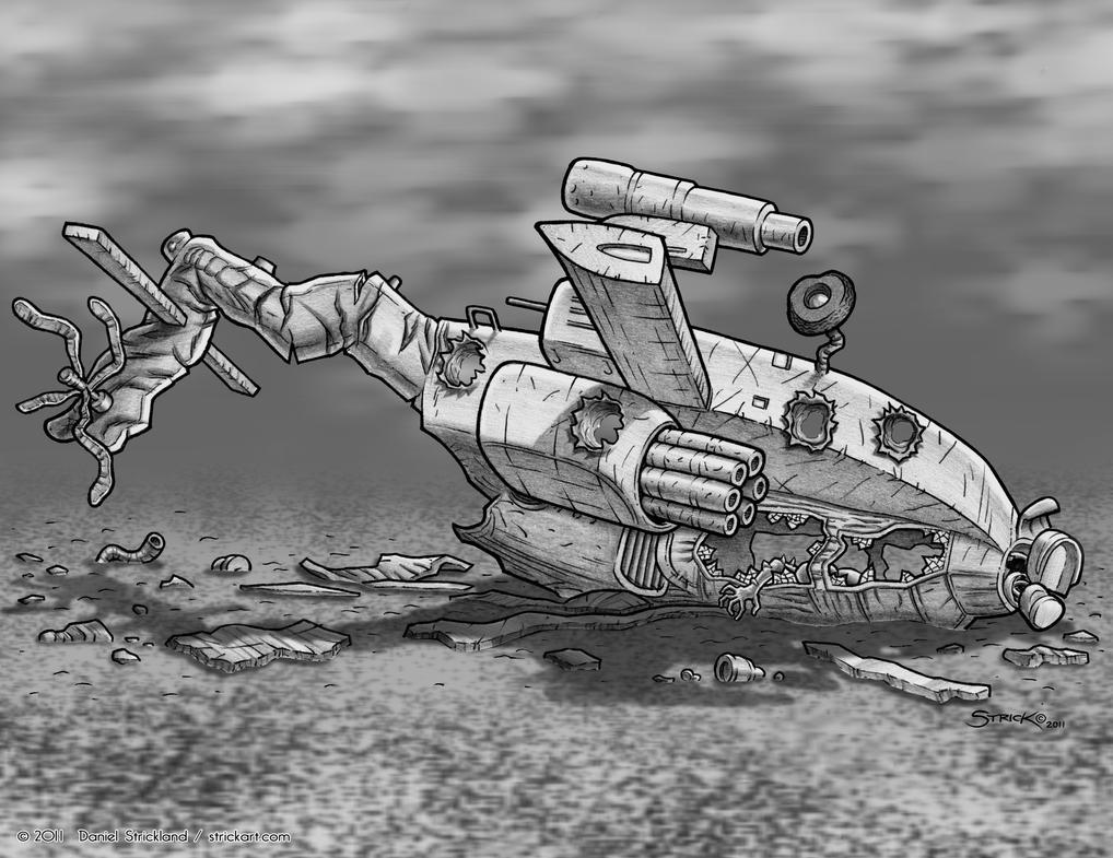Wreckage II by strickart