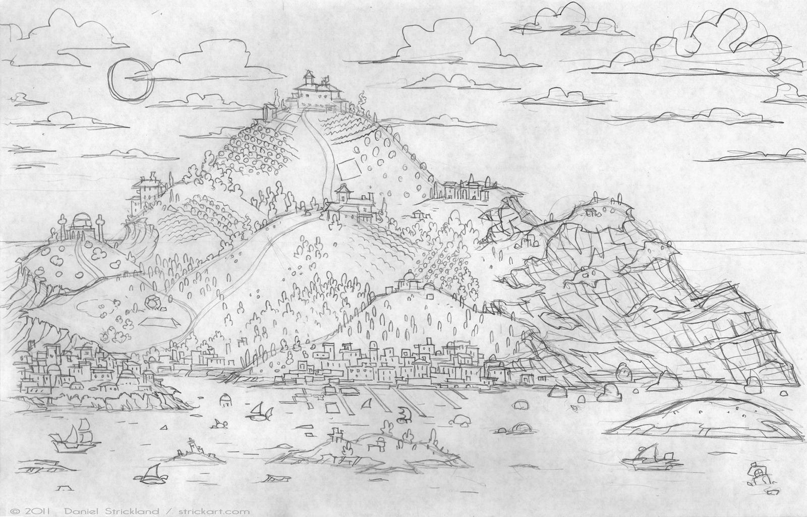 RS Landscape Sketch by strickart