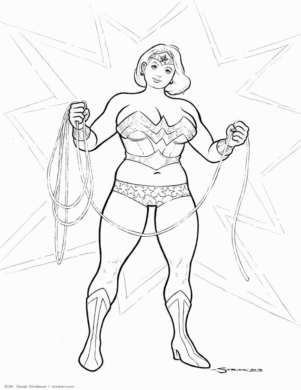 Big Beautiful Wonder Woman by strickart