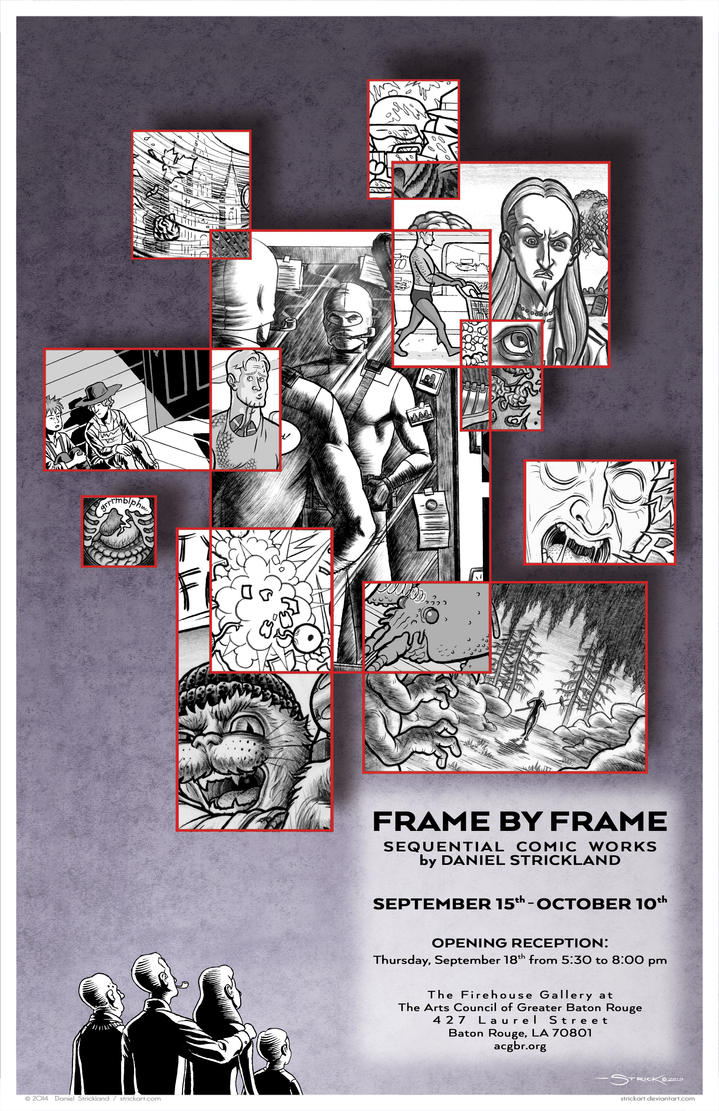Frame by Frame Gallery Show Poster by strickart