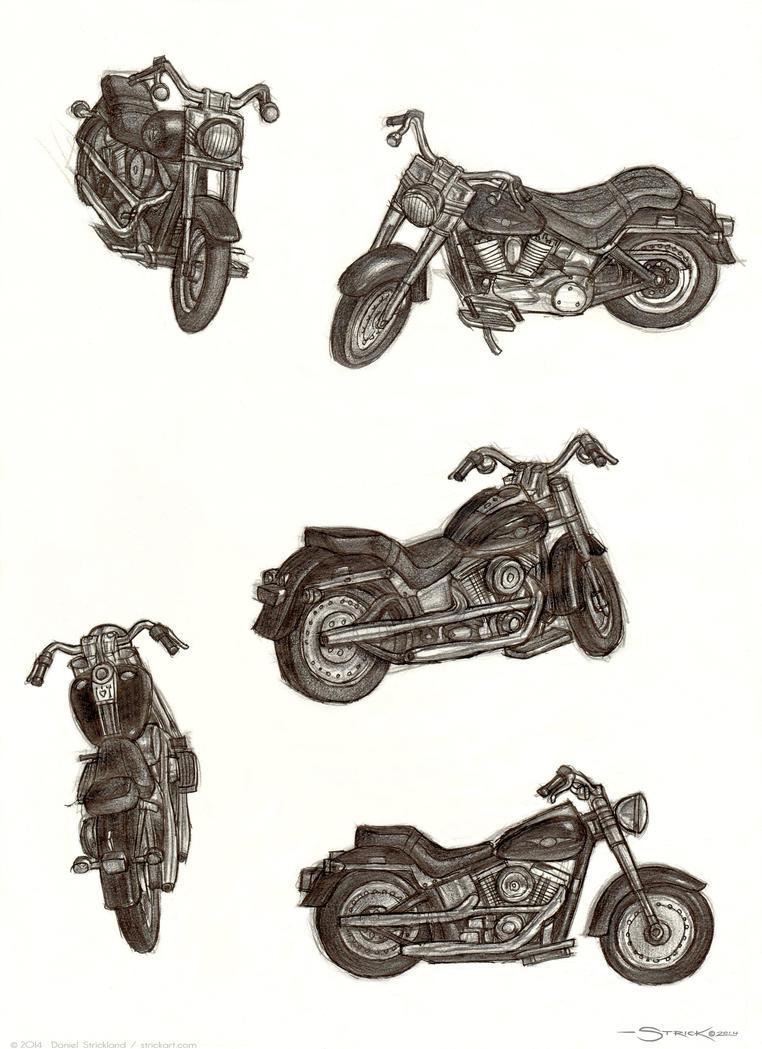 Harley sketch by strickart