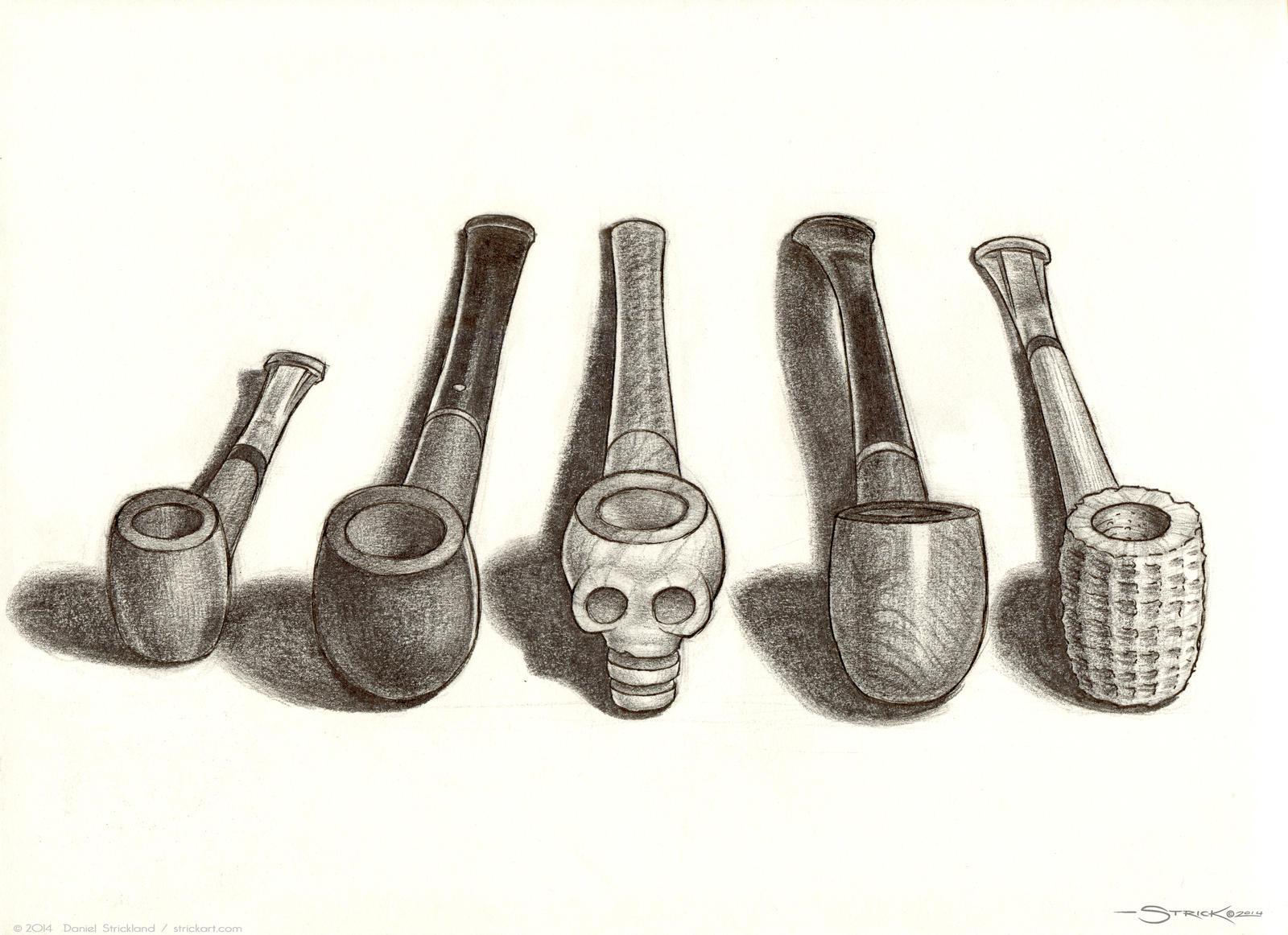 Pipes sketch by strickart