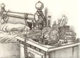 Bed sketch by strickart