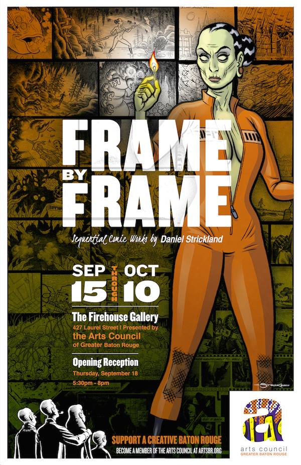 Frame by Frame Galley Show Alternate Poster by strickart