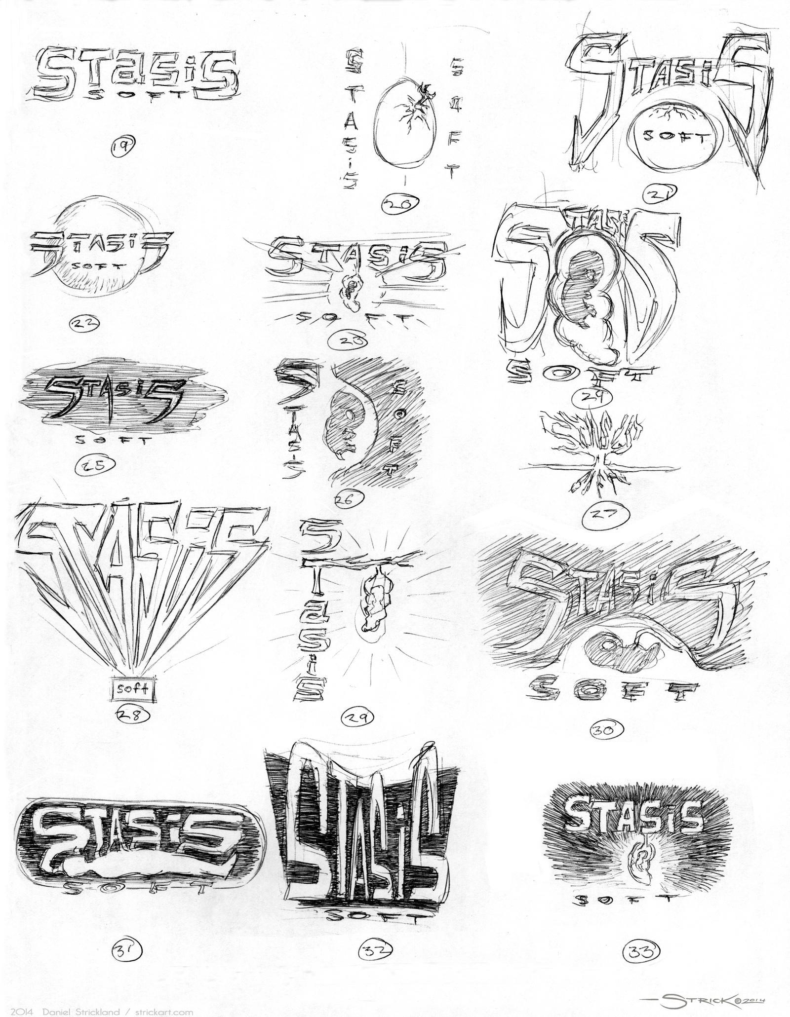 Logo Sketches 2 by strickart