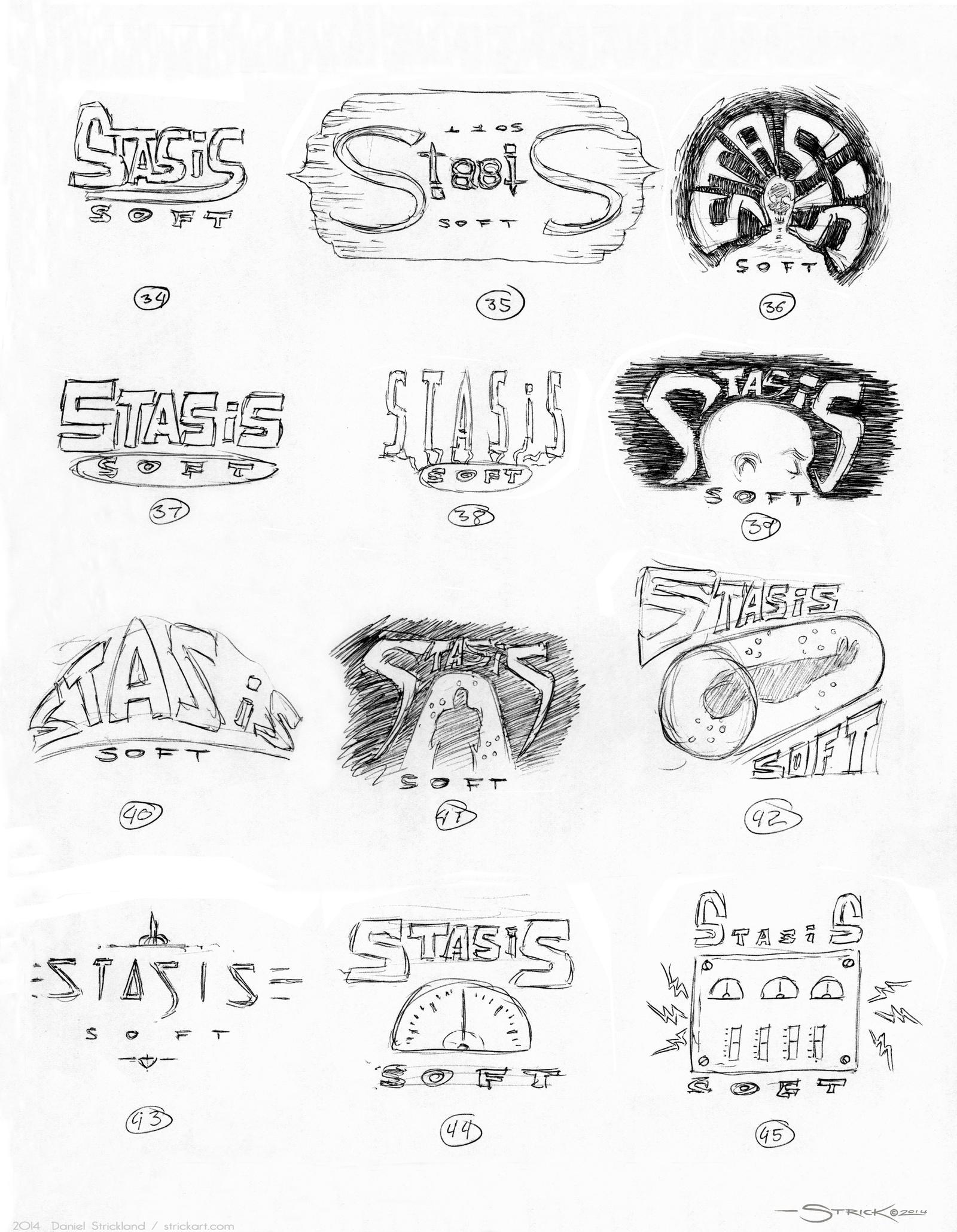 Logo Sketches 3 by strickart
