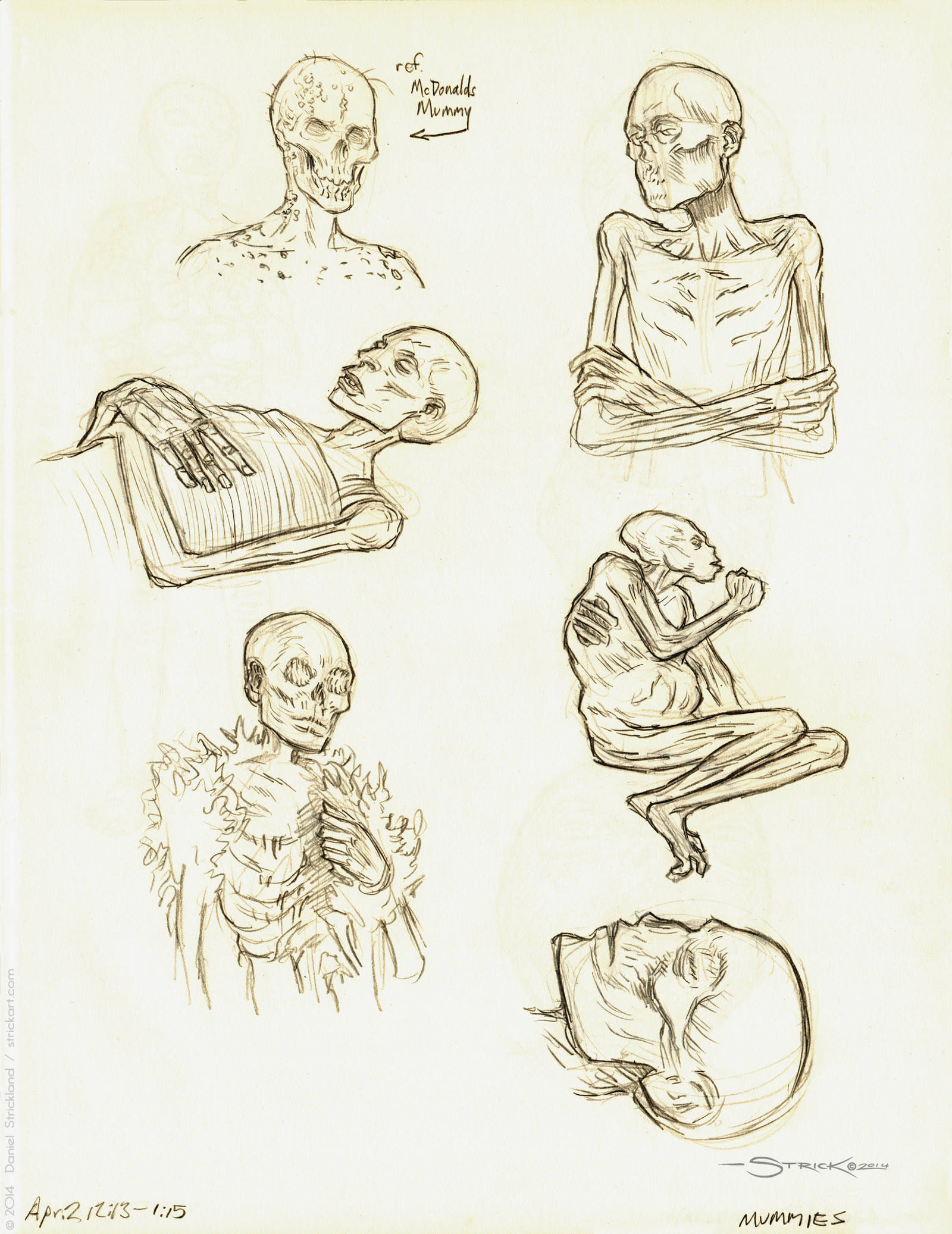 Mummy Sketches by strickart