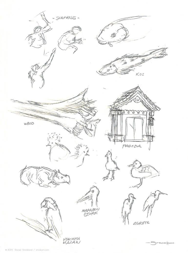 Zoo sketch 1 by strickart
