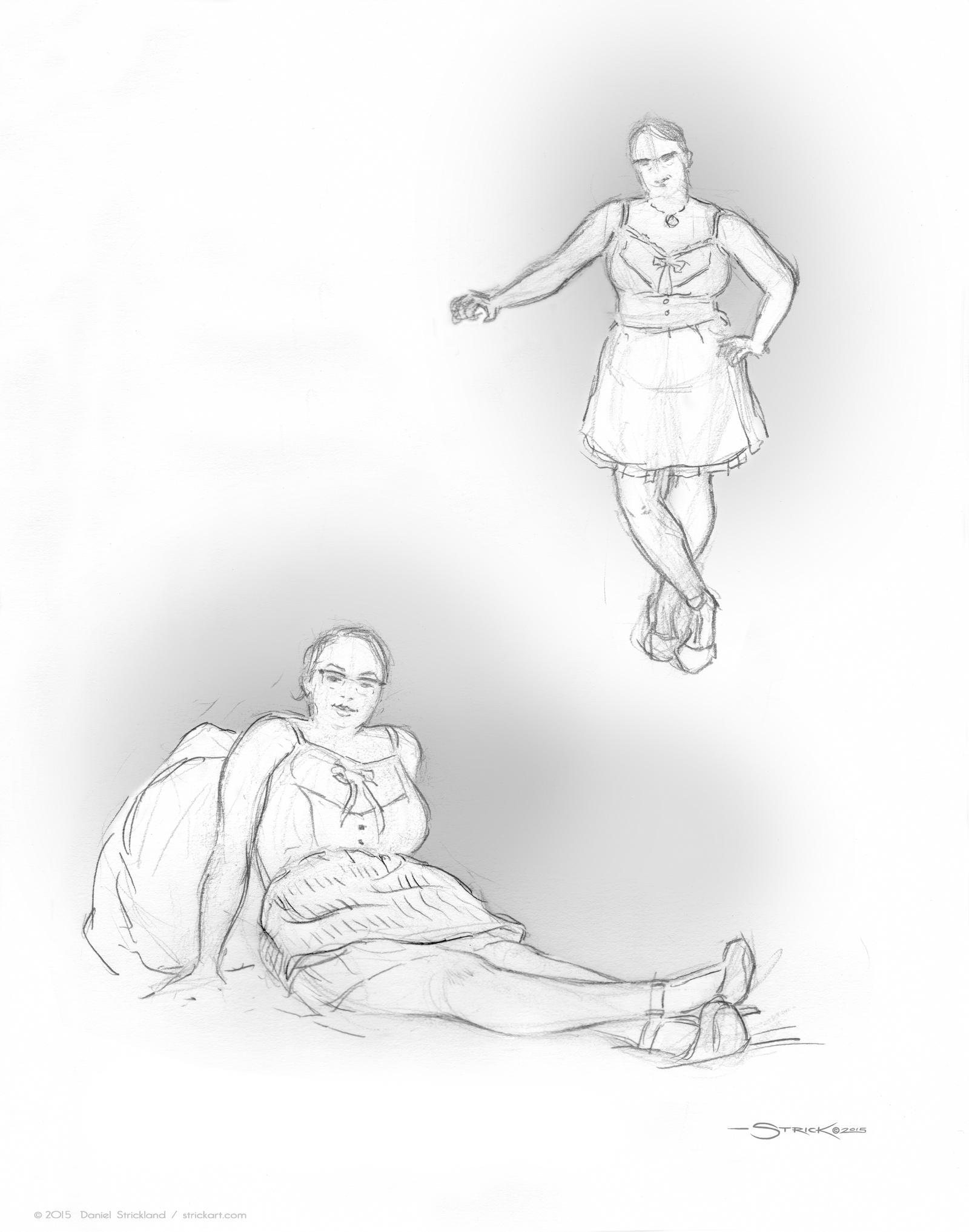 Jenn sketch by strickart