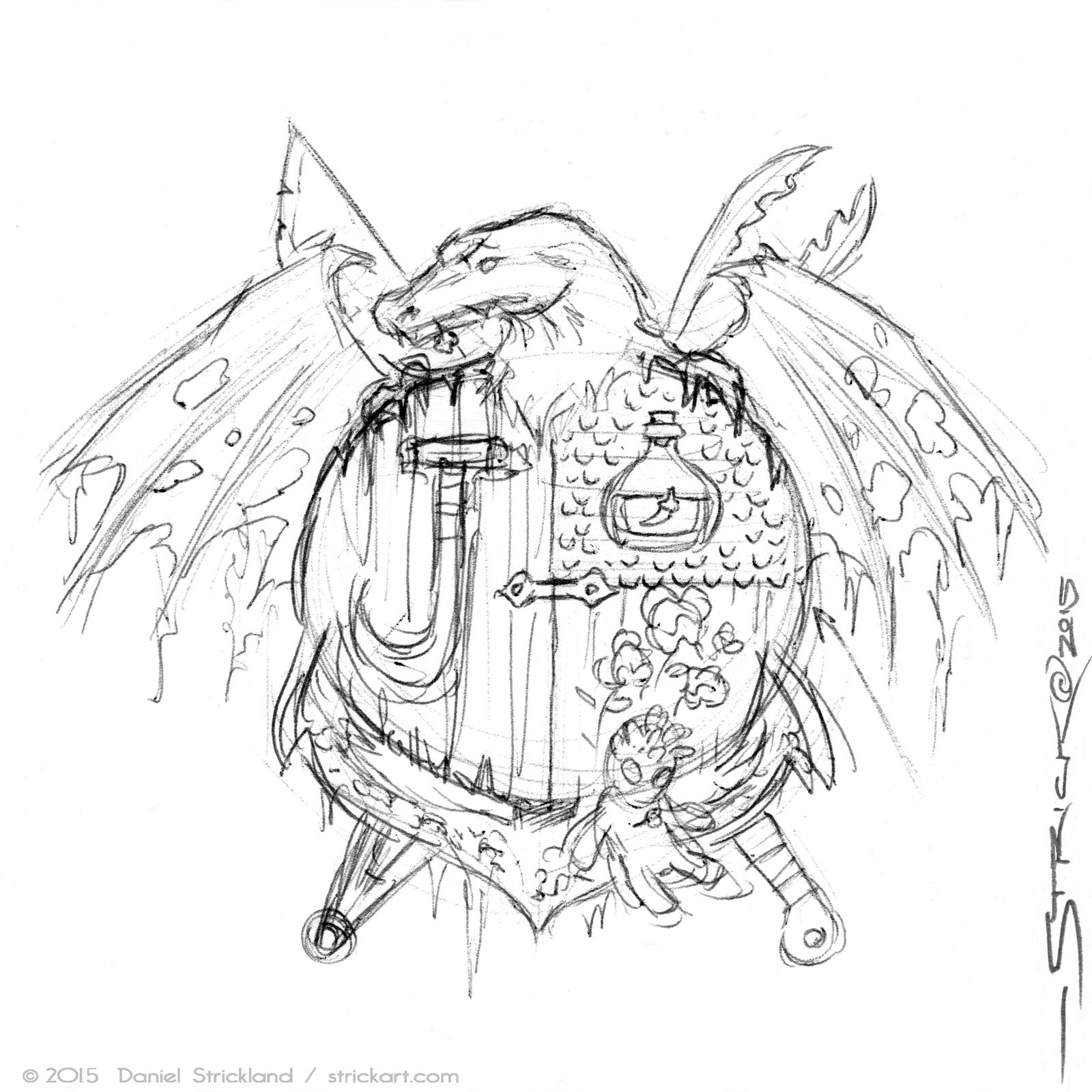 Mystery Coat of Arms sketch by strickart