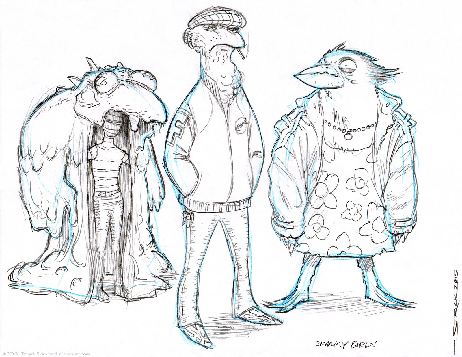 Nobbins Characters sketch 2 by strickart