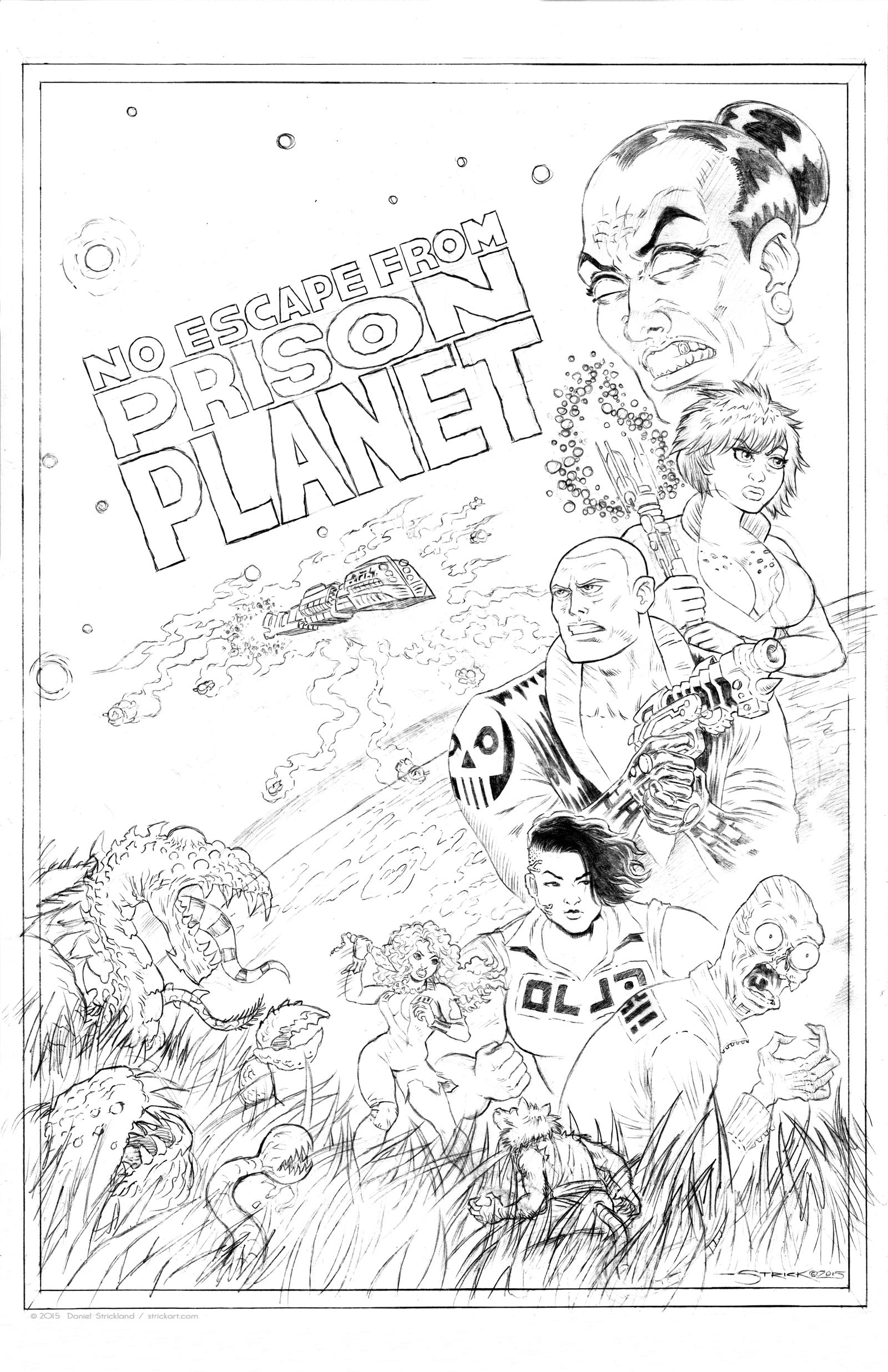 Prison Planet cover WIP 3 by strickart