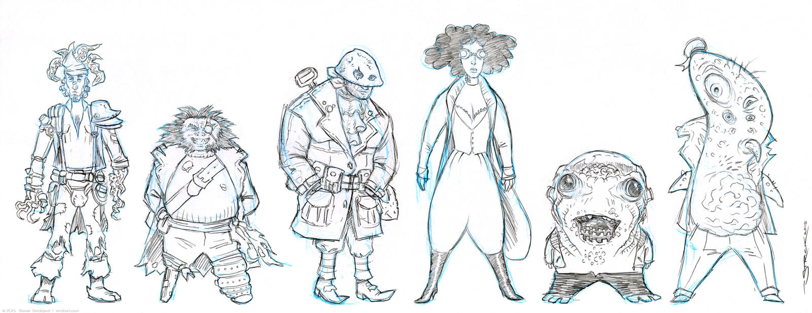 Nobbins Characters sketch 3 by strickart