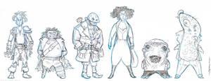 Nobbins Characters sketch 3