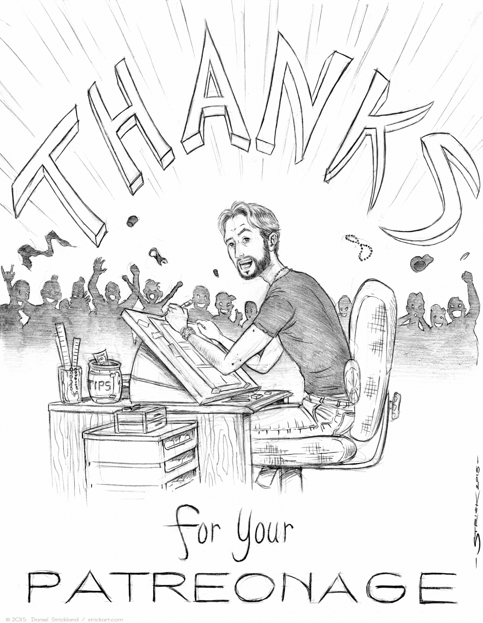 The Strickart Patreon Thank You Page by strickart
