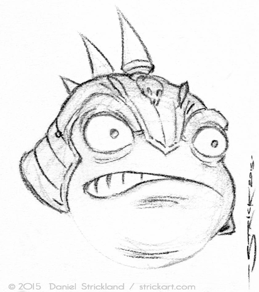 Frog Soldier sketch 2 by strickart