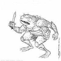 Frog Soldier sketch 4 by strickart