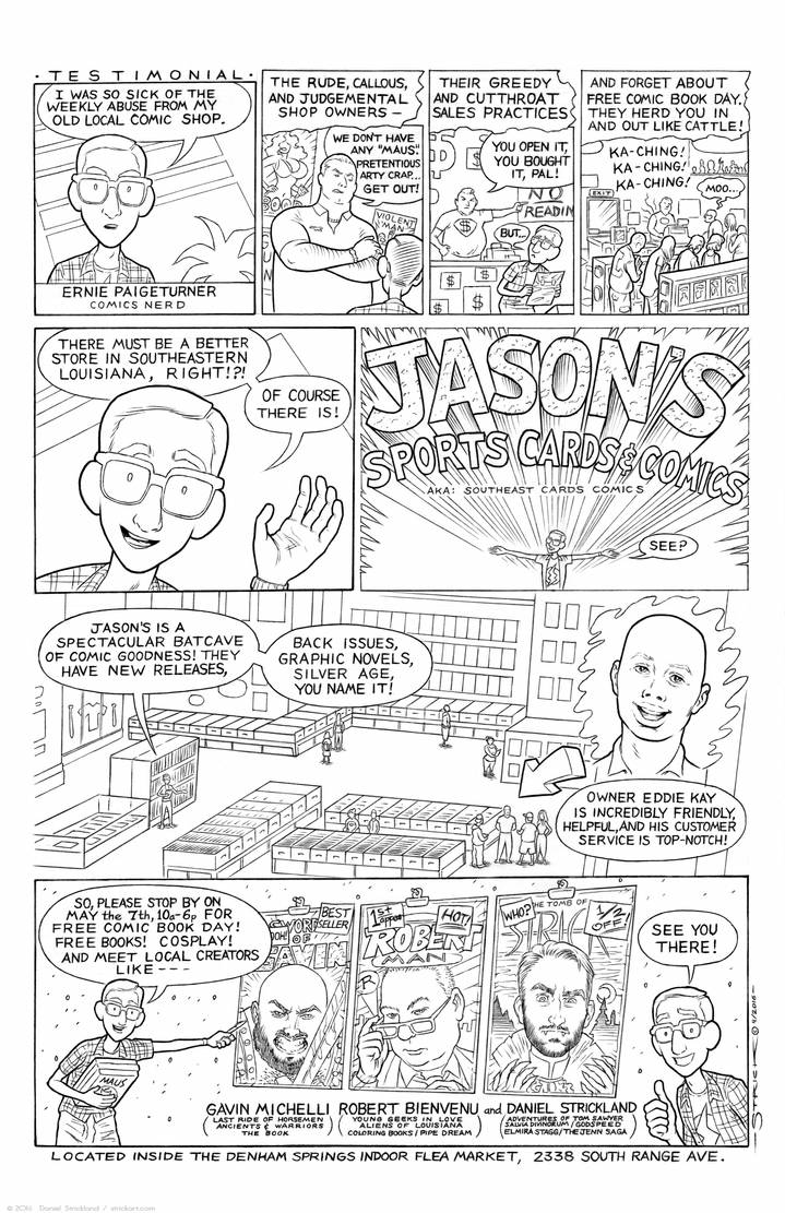 FCBD 2016 at Jason's Sports Cards and Comics by strickart