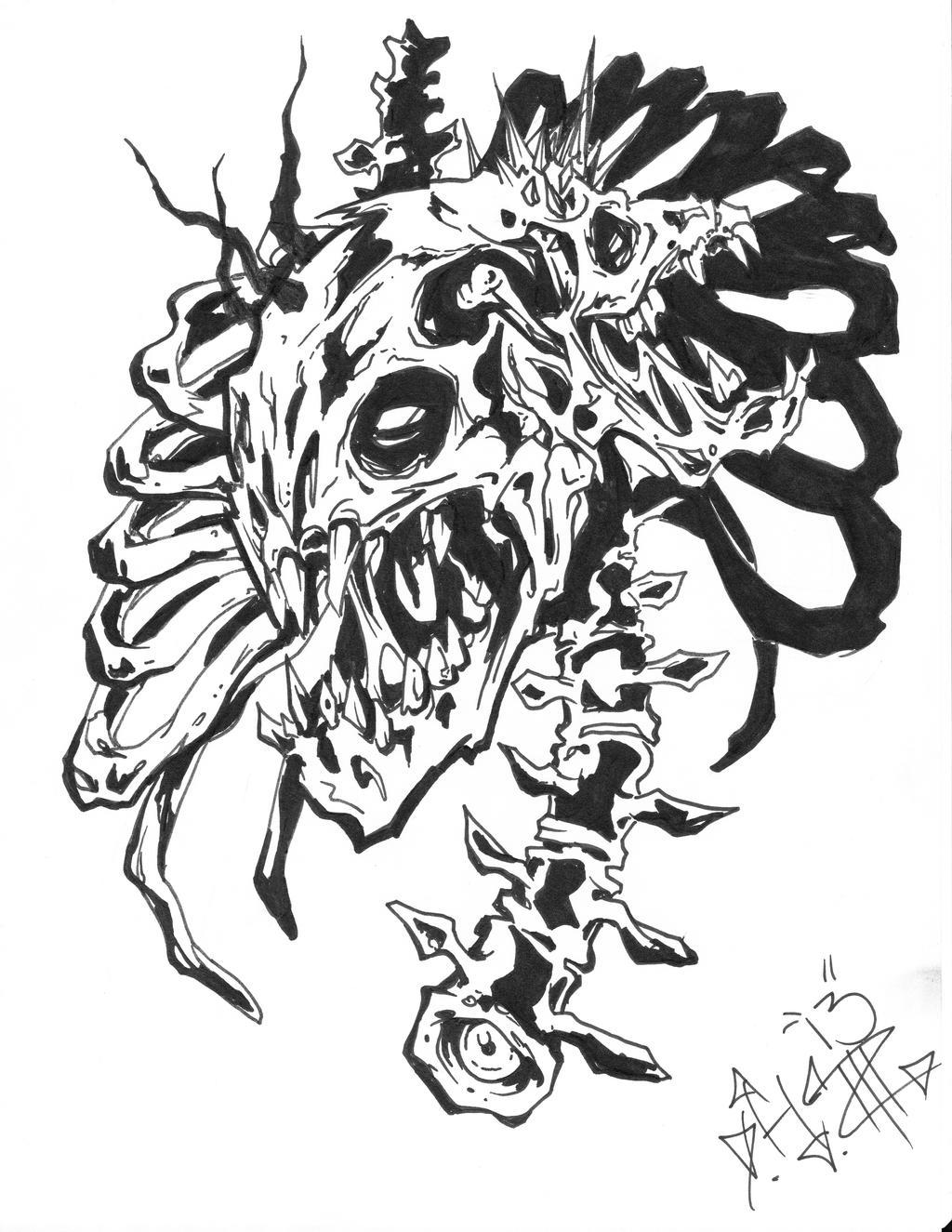 revised twiztid skull logo by donzo317 on deviantart