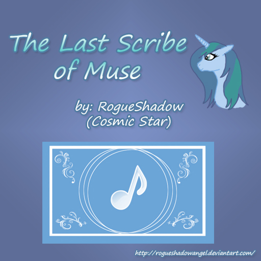 The last scribe of music title and cover page by RogueShadowAngel