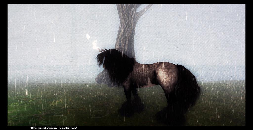 Cosmic Raining by RogueShadowAngel