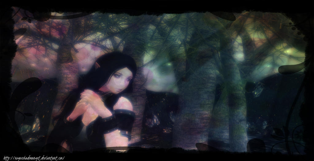 Hiding from Sun by RogueShadowAngel
