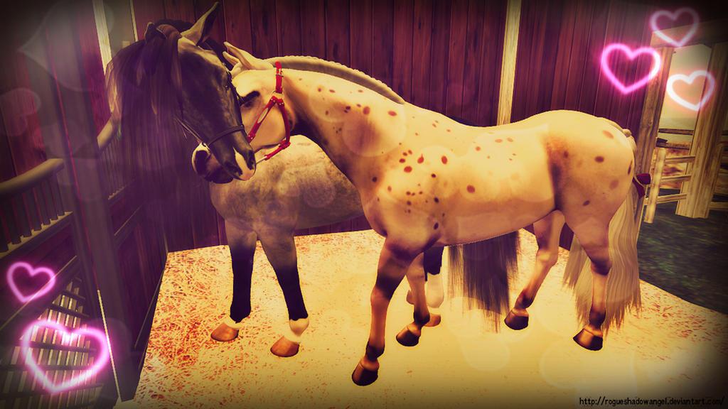 Horsey Lovers by RogueShadowAngel