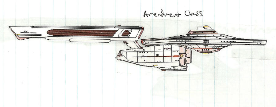 USS Essence: Amendment-class Starship by NinjaWereWulf